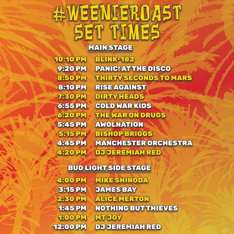 KROQ Weenie Roast Webcast / Broadcast / Venue Info