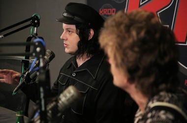Jack White and Brendan Benson of The Raconteurs at KROQ