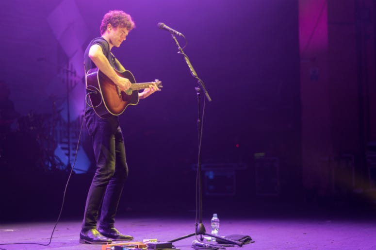 3/7/2018 - Vance Joy performing live on stage at the O2 Academy Brixton in London. Photo date: Wednesday, March 7, 2018.