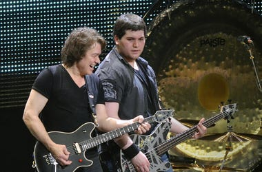 Guitarist Eddie Van Halen and his son/bassist Wolfgang Van Halen