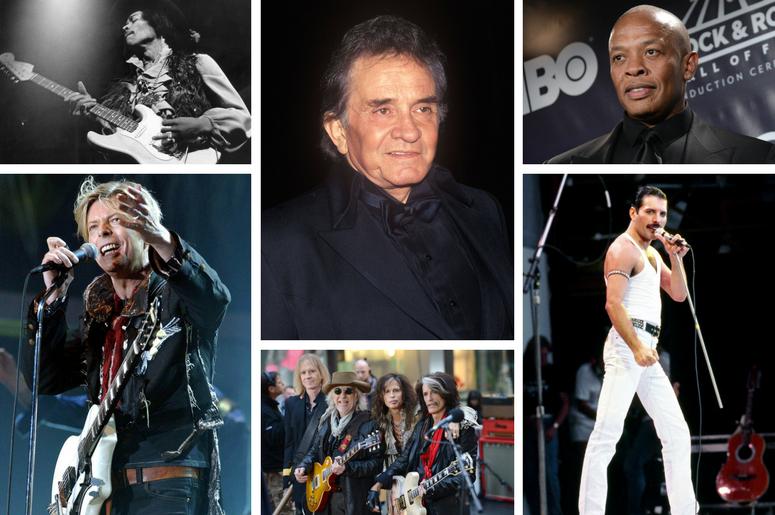 David Bowie, Jimi Hendrix, Queen, Aerosmith, Dr. Dre, Johnny Cash