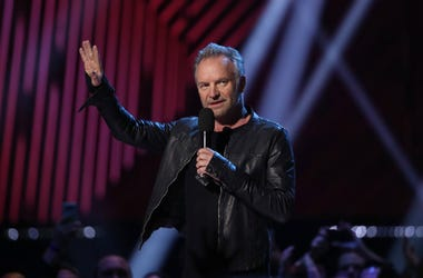Sting speaks before presenting the award for R&B / Soul Recording of the Year during the 2019 Juno Awards