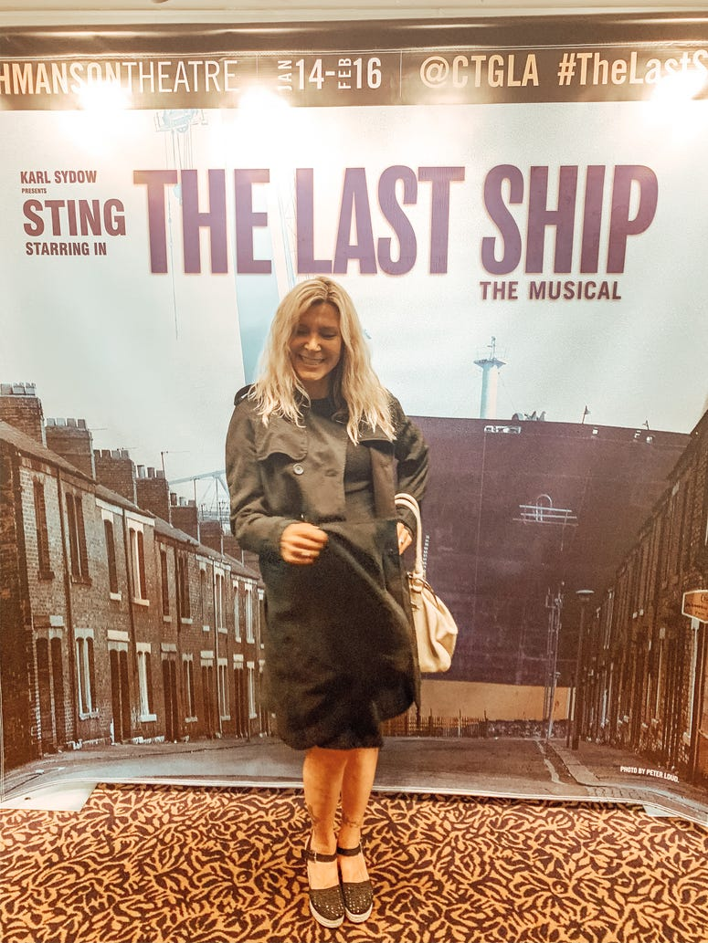 Lara Scott at Sting's The Last Ship Musical