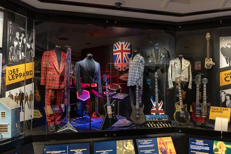 Stage outfits, instruments and memorabilia from new Inductees Def Leppard
