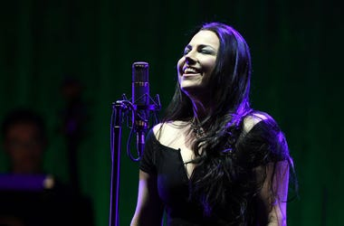 """Recording artist Amy Lee of Evanescence performs as the band kicks off its tour in support of the upcoming album """"Synthesis"""" at The Pearl concert theater at Palms Casino Resort on October 14, 2017 in Las Vegas, Nevada"""