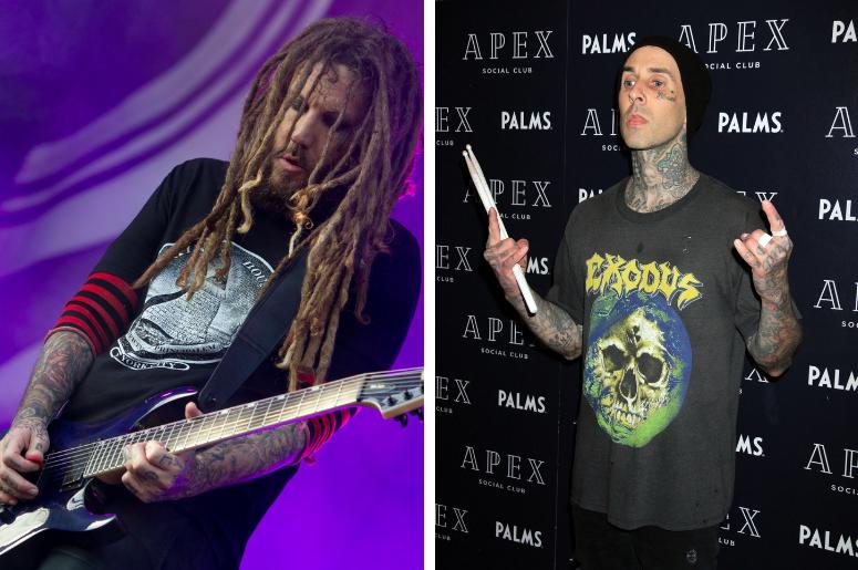 "Korn's Brian ""Head"" Welch and blink-182's Travis Barker"