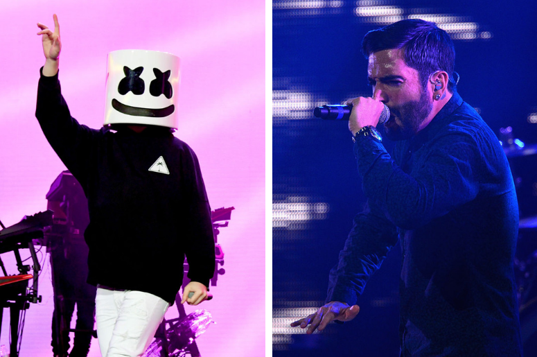 Marshmello and Jeremy McKinnon of A Day To Remember