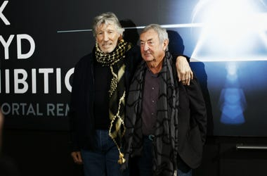 Roger Waters and Nick Mason attend 'The Pink Floyd Exhibition: Their Mortal Remains'