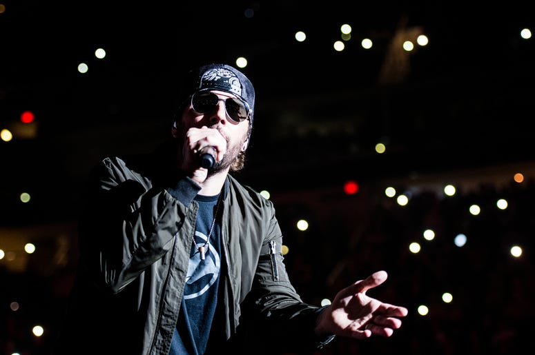 M. Shadows of Avenged Sevenfold performs