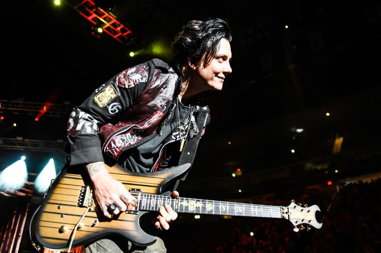 Synyster Gates of Avenged Sevenfold performs