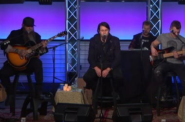 Three Days Grace perform at the Entercom offices in New York City