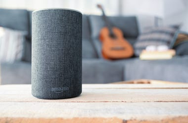 Amazon Echo Smart Home Alexa Voice Service in a living room