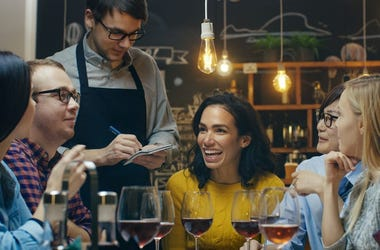 Photo of people dining at a restaurant