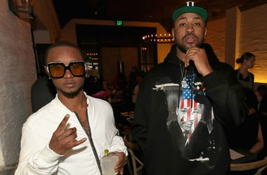 Mike Will Made It and Slim Jxmmi, of Rae Sremmurd attend Mike Will Made It celebrates his birthday and the release of 'Ransom 2' at a DTS Play-Fi Dine In Sound event at WOLF Restaurant LA on March 23, 2017 in Los Angeles, California.