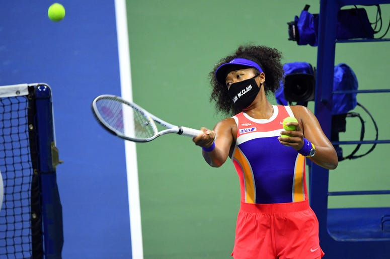 Naomi Osaka Wearing Elijah McClain Mask at US Open