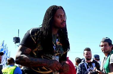Rapper Waka Flocka Flame before the 2017 Daytona 500 at Daytona International Speedway.