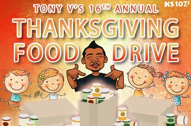 Tony V's Thanksgiving Food Drive