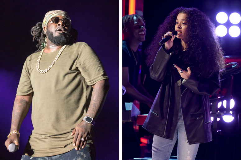 T-Pain (Faheem Rashad Najm) during Summerfest Music Festival at Henry Maier Festival Park on July 5, 2017, in Milwaukee, Wisconsin / LOS ANGELES - JUNE 24: Ella Mai performs on the 2018 BET Awards at the Microsoft Theater on June 24, 2018 in Los Angeles.