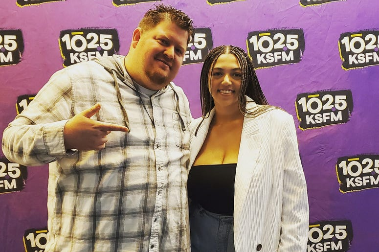 Mahalia and Big Mic at KSFM Sound Stage