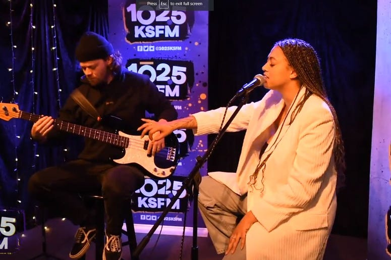 Mahalia performs at KSFM Sound Stage in Sacramento