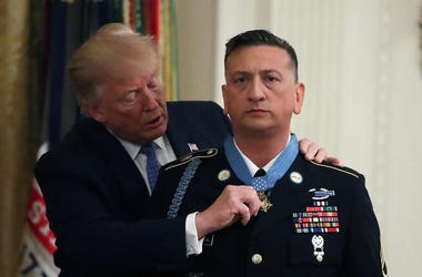 Donald Trump awarding David Bellavia Medal of Honor