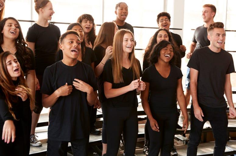 singing choir performing