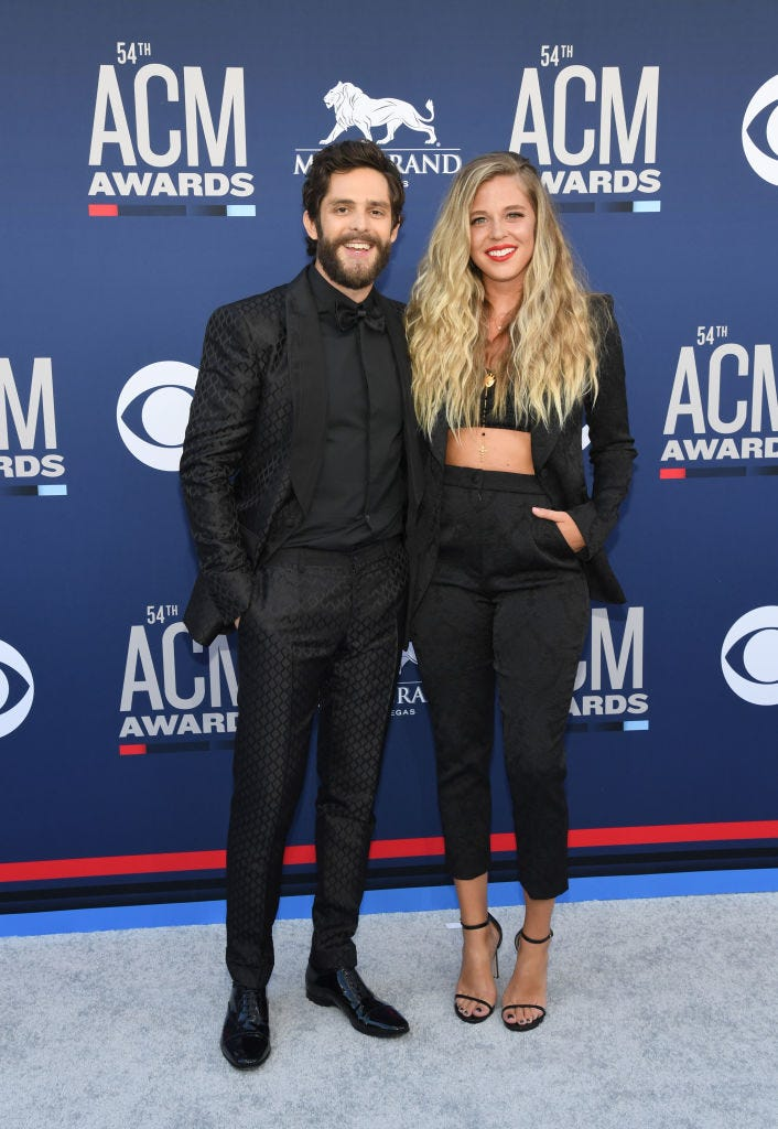 Thomas Rhett attends the 54th Academy Of Country Music Awards at MGM Grand Hotel & Casino on April 07, 2019 in Las Vegas, Nevada