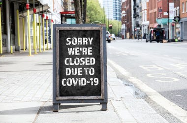 Covid Closed Signs