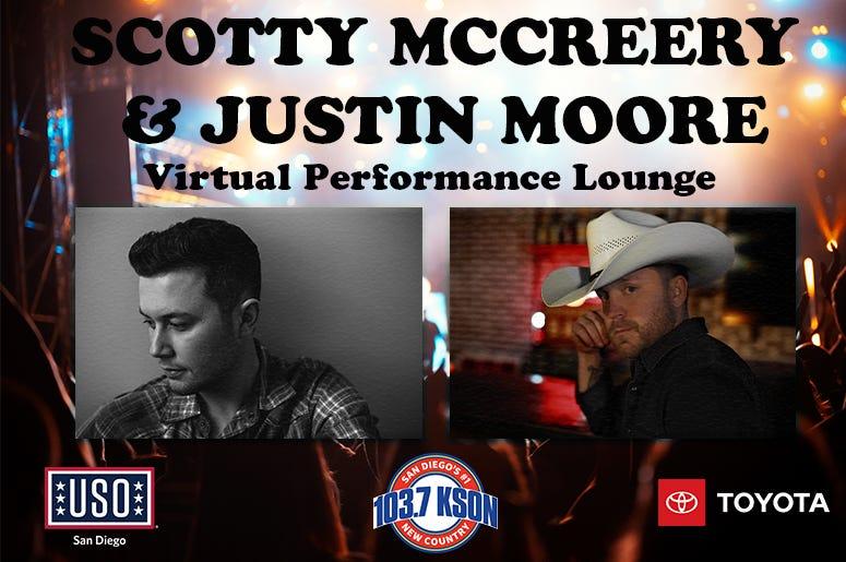 Scotty McCreery Justin Moore USO Virtual Performance