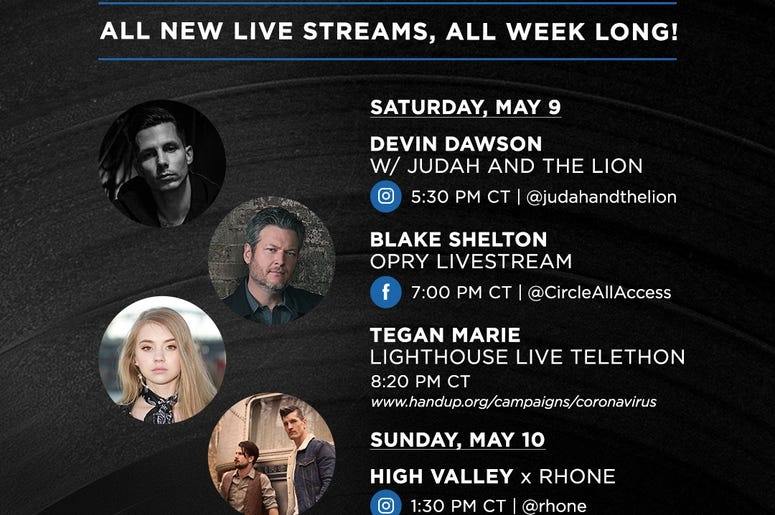 Warner Music Nashville Daily Live Viewing Guide 5/9 & 5/10
