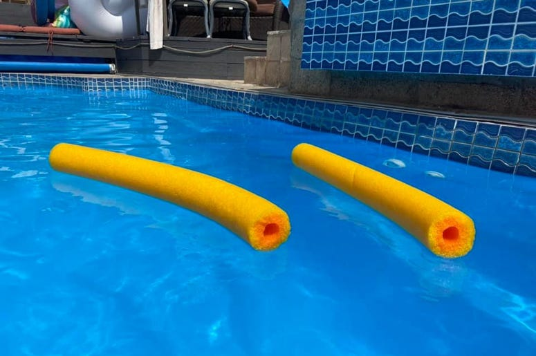 broken pool noodle