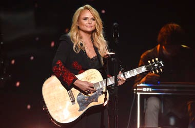 """FILE - In this April 15, 2018 file photo, Miranda Lambert performs """"Keeper of the Flame"""" at the 53rd annual Academy of Country Music Awards at the MGM Grand Garden Arena in Las Vegas. Country star Lambert celebrated Valentine's Day weekend with the announ"""