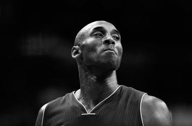 DECEMBER 02: (Editors Note: Image has been converted to black and white) Kobe Bryant #24 of the Los Angeles Lakers looks on against the Washington Wizards in the first half at Verizon Center on December 2, 2015 in Washington, DC. NOTE TO USER: User expres