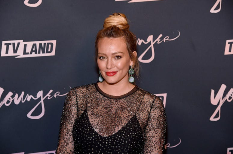 "BROOKLYN, NY - JUNE 04: Hilary Duff attends the ""Younger"" Season 5 Premiere Party at Cecconi's Dumbo on June 4, 2018 in Brooklyn, New York. (Photo by Jamie McCarthy/Getty Images)"