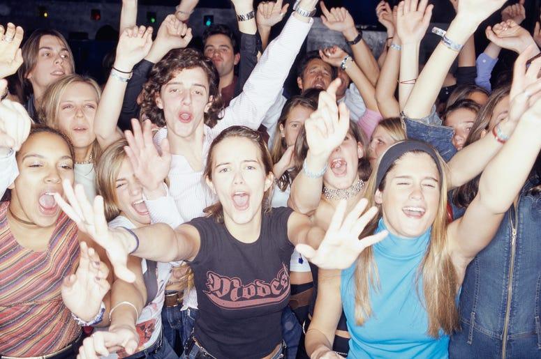 teenager concert