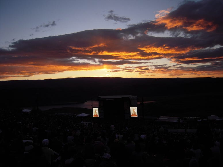 Saquatch at the Gorge at night