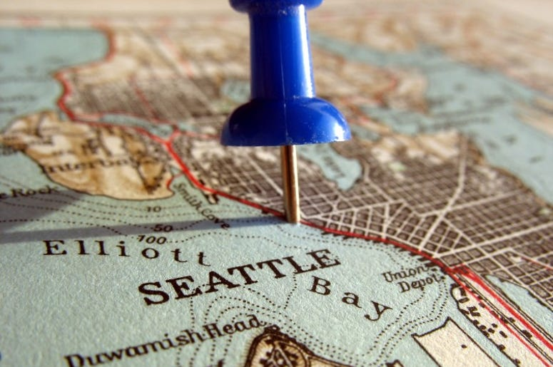 Seattle on an old map