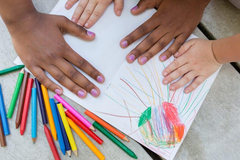 Multicultural kids hands