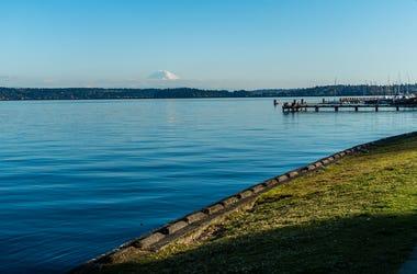 Lake Washington and Mt. Rainier
