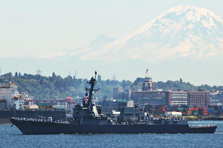 Navy ship in Seattle