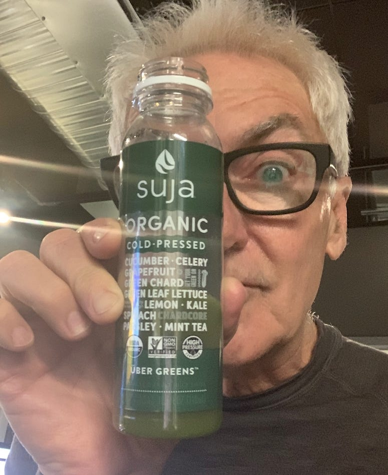 John and a healthy green drink