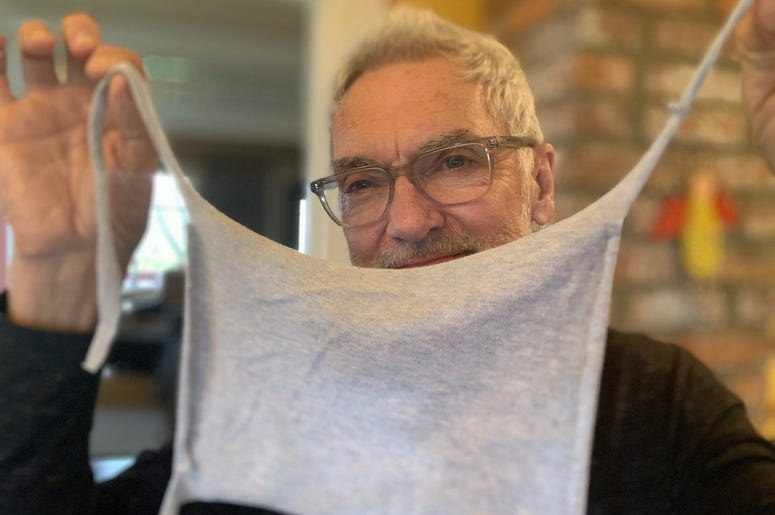 John and his DIY face mask
