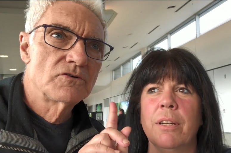 John & Jeanne at SeaTac