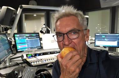 John eating an apple