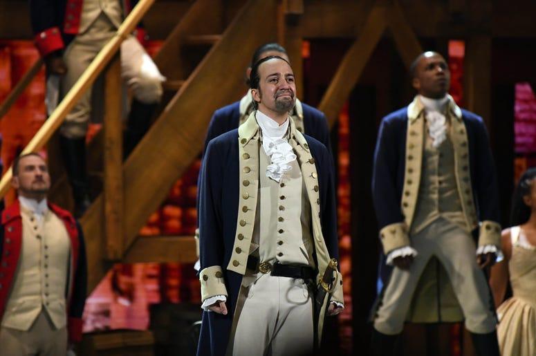 Hamilton on stage