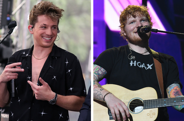 """Singer Charlie Puth Live Performance on NBC's """"Today Show"""" at Rockefeller Plaza in New York, USA. / Ed Sheeran performs at the American Airlines Arena."""
