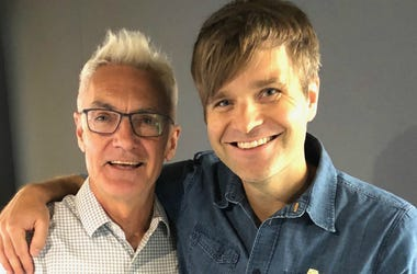 John Fisher with Ben Gibbard of Death Cab