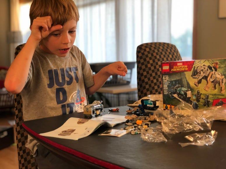 Dawson does Lego