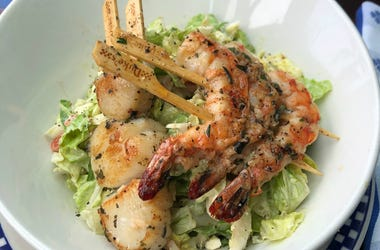 Duke's Scallop & Prawn Chop Chop Salad