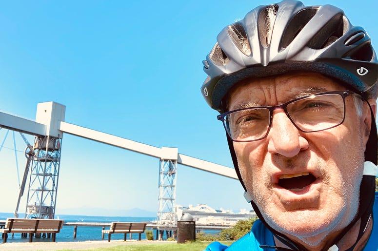 John on a bike ride